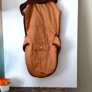 Dog fleece lined jacket